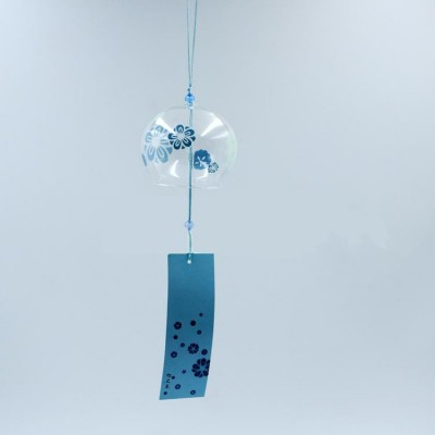 Фурин. Ветряной колокольчик с голубыми цветами