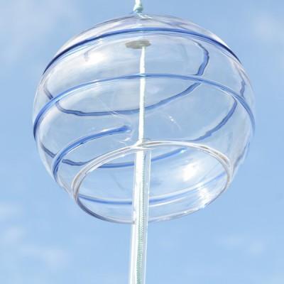 Ветряной колокольчик Фурин с выпуклой спиралью