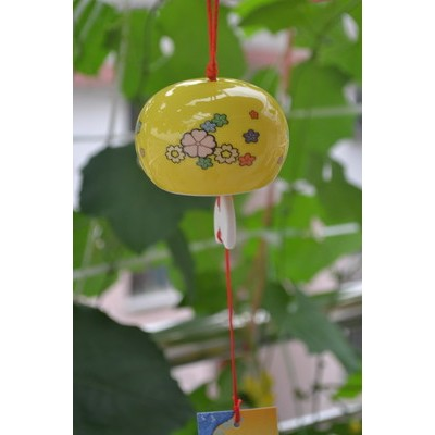 Керамический колокольчик (желтый)