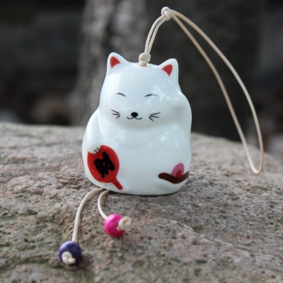 Керамический колокольчик Манэки-нэко