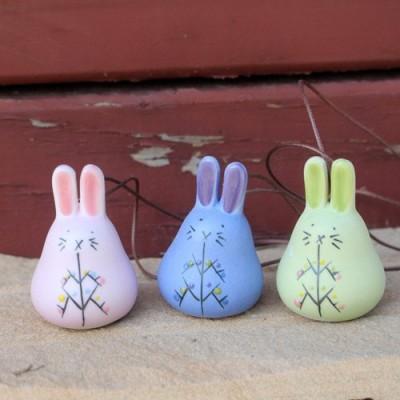 Керамический колокольчик Кролик