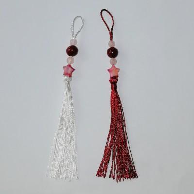 Парные подвески: бело-красная пара