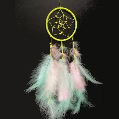 Ловец снов лайм (диаметр 8см)