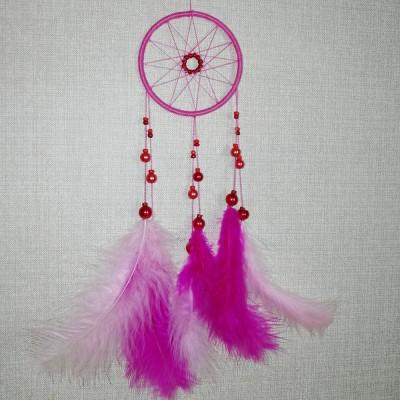 Ловец снов розовое колесо (диаметр 8см)