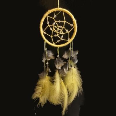 Ловец снов желтый (диаметр 8см)
