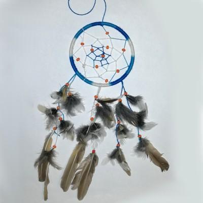 Ловец снов голубой (диаметр 8см)