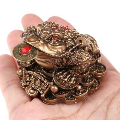 Жаба с монеткой (цвета меди)
