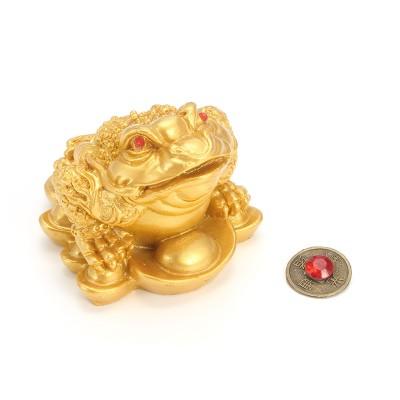Жаба с монеткой